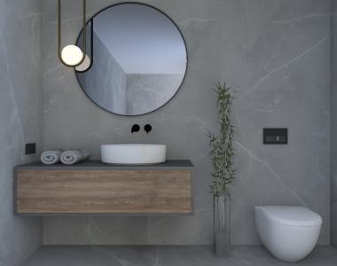 Łazienka inspirowana marmurem